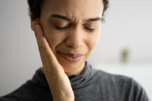 Sore African Tooth. Toothache And Decay. Oral Health